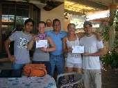 Nach erfolgreichem Kursabschluss gibt es in der Schule dann Zertifikate, La Ceiba/Honduras.